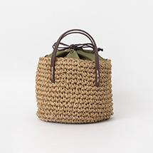 ANNA 編み込みプチバッグ